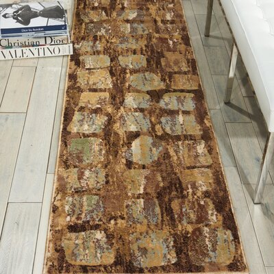Duke Brown/Blue Area Rug Rug Size: Runner 22 x 73