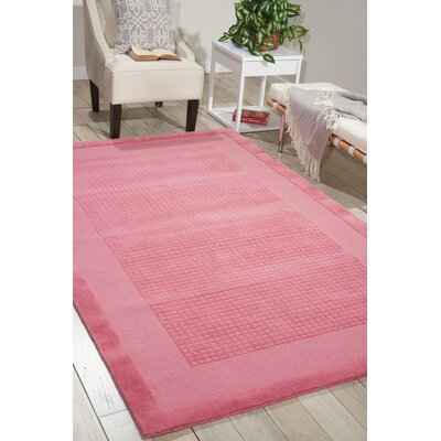 Aspasia Hand-Tufted Pink Area Rug Rug Size: Rectangle 8 x 106