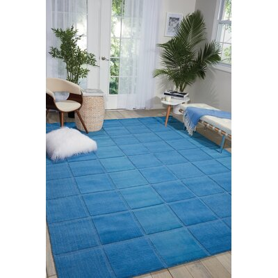 Aspasia Hand-Tufted Blue Area Rug Rug Size: Rectangle 26 x 4