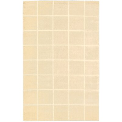 Aspasia Geometric Hand-Tufted Ivory Area Rug Rug Size: Rectangle 26 x 4