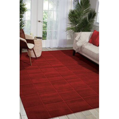 Aspasia Hand-Tufted Red Area Rug Rug Size: Rectangle 5 x 8
