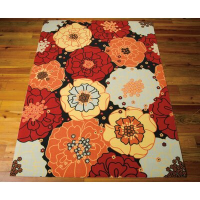 Avis Red Indoor/Outdoor Area Rug Rug Size: Rectangle 53 x 75