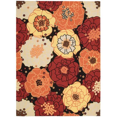 Avis Red Indoor/Outdoor Area Rug Rug Size: 53 x 75