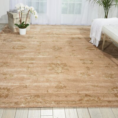 Superlative Hand-Tufted Beige Area Rug Rug Size: 8 x 11