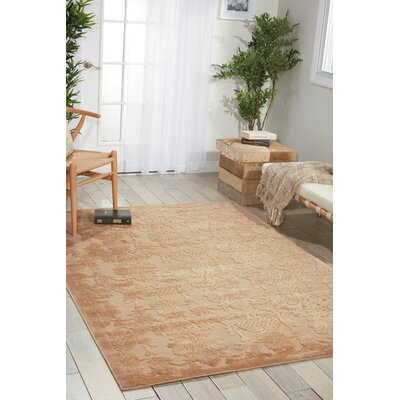 Riffe Light Gold Area Rug Rug Size: Rectangle 53 x 75
