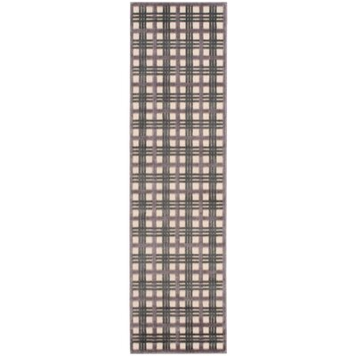 Burnham Ivory/Brown Area Rug Rug Size: Runner 23 x 8