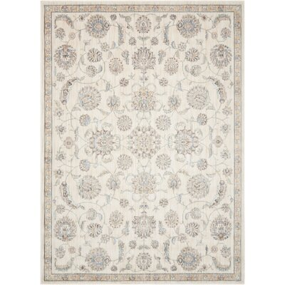 Frantz Ivory Area Rug Rug Size: Rectangle 53 x 73