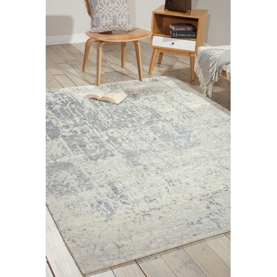 Silk Shadows Hand-Knotted Beige Area Rug Rug Size: 39 x 59