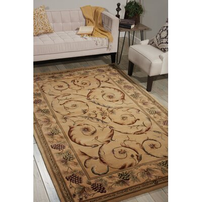 Bette Hand-Tufted Beige Area Rug Rug Size: Rectangle 53 x 83