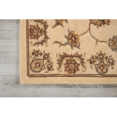 Hand-Tufted Beige Area Rug Rug Size: 99 x 139