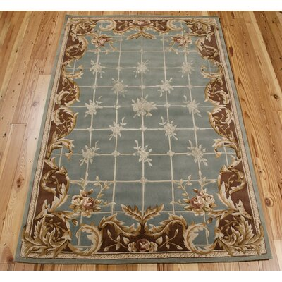 Abrial Blue Area Rug Rug Size: Rectangle 76 x 96
