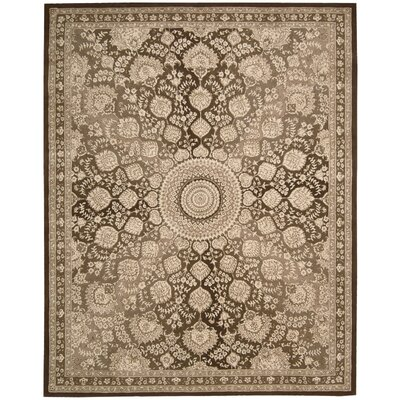Hand Woven Wool Chocolate Indoor Area Rug Rug Size: 86 x 116
