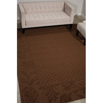 Riverwoods Hand-Loomed Chocolate Area Rug Rug Size: 79 x 99
