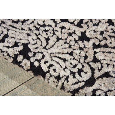 Driftwood Black Area Rug Rug Size: Rectangle 53 x 75