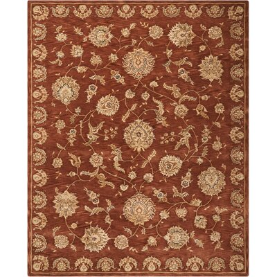 Hand Woven Wool Rust Indoor Area Rug Rug Size: Round 8