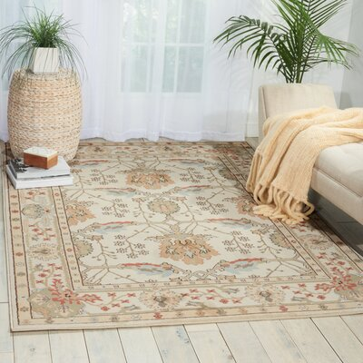 Walden Ivory Area Rug Rug Size: Rectangle 93 x 129