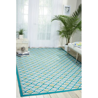 Reynalda Blue Indoor/Outdoor Area Rug Rug Size: 66 x 99