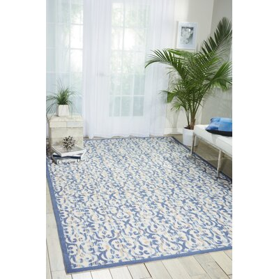 Reynalda Ivory/Navy Indoor/Outdoor Area Rug Rug Size: Rectangle 66 x 99