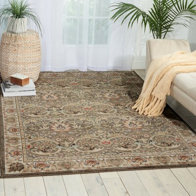 Leighanne Light Brown/Beige Area Rug Rug Size: 53 x 74