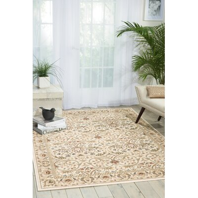 Machias Rug in Ivory Rug Size: Rectangle 93 x 129