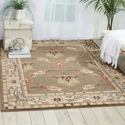 Hester Gray Area Rug Rug Size: Rectangle 93 x 129