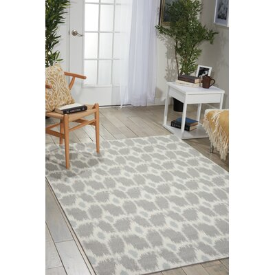 Provencher Gray/Beige Area Rug Rug Size: Rectangle 5 x 7