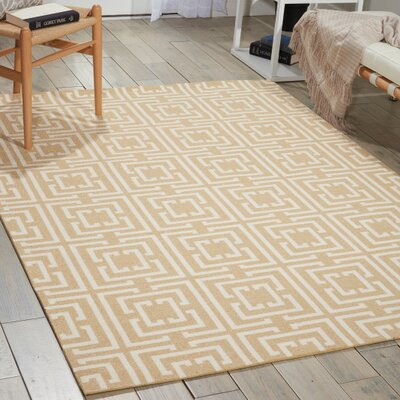 Bridget Rug in Tan Rug Size: 5 x 7