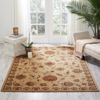 Hand Woven Wool Beige Indoor Area Rug Rug Size: 26 x 43