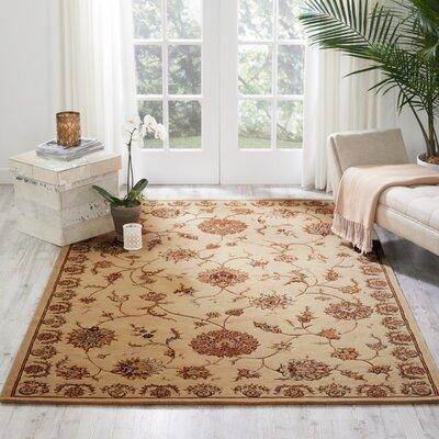 Hand Woven Wool Beige Indoor Area Rug Rug Size: 39 x 59