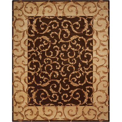 Versaille Palace Hand-Tufted Chocolate Area Rug Rug Size: 76 x 96