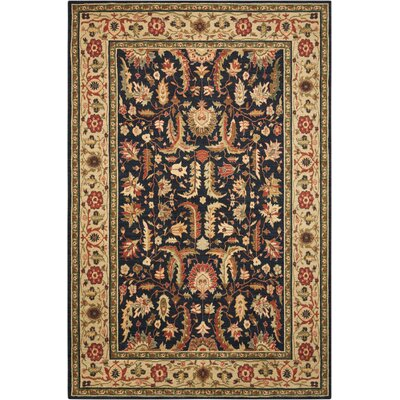 Living Treasures Midnight Area Rug Rug Size: 56 x 83