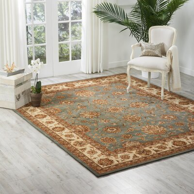 Nourison 2000 Hand Woven Wool Blue Indoor Area Rug Rug Size: 79 x 99