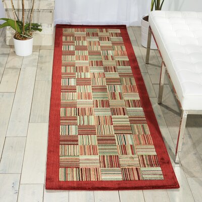 Hillhouse Beige/Red Area Rug Rug Size: Rectangle 56 x 75