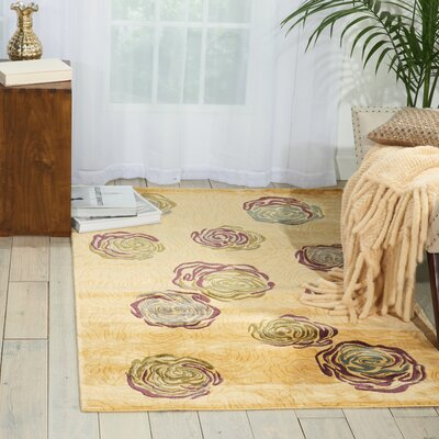 Tarah Ivory Area Rug Rug Size: Rectangle 36 x 56