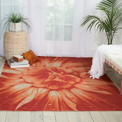 Adamov Red Indoor/Outdoor Area Rug Rug Size: Rectangle 53 x 75