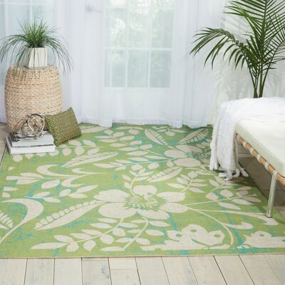 Adamov Green Indoor/Outdoor Area Rug Rug Size: Rectangle 79 x 1010