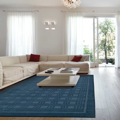 Aspasia Hand-Woven Blue Area Rug Rug Size: Rectangle 26 x 4
