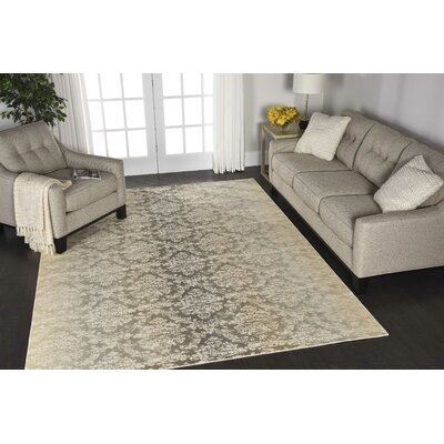Bourgault Beige Area Rug Rug Size: Rectangle 93 x 129