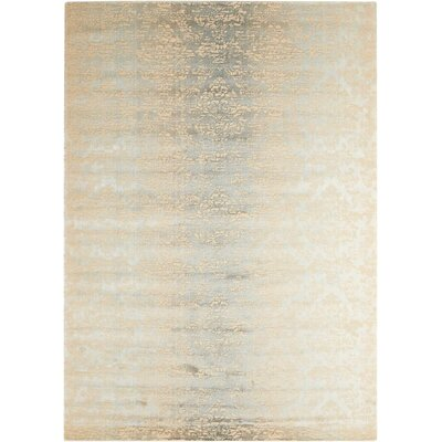 Bourgault Beige Area Rug Rug Size: Rectangle 76 x 106