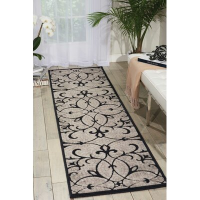 Burnes Black/Brown Area Rug Rug Size: Runner 23 x 8