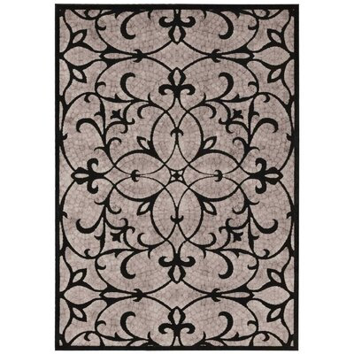Burnes Black/Brown Area Rug Rug Size: 79 x 1010