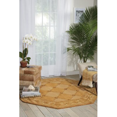 Vallencierre Golden Area Rug Rug Size: 36 x 56