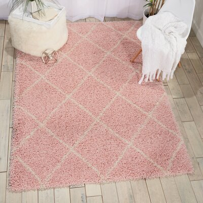 Puyallup River Blush Area Rug Rug Size: 5 X 7