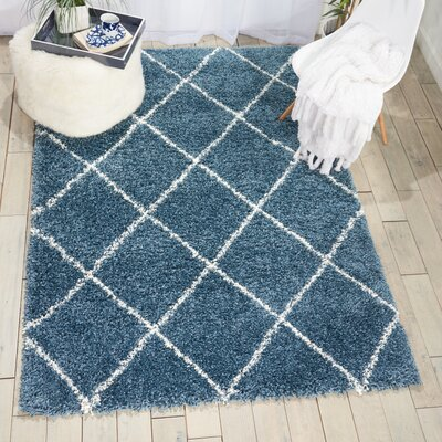 Puyallup River Slate Blue Area Rug Rug Size: Rectangle 5 X 7