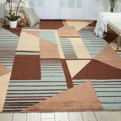 Minnie Brown/Blue Area Rug