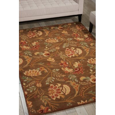 Broomhedge Hand-Tufted Brown Area Rug