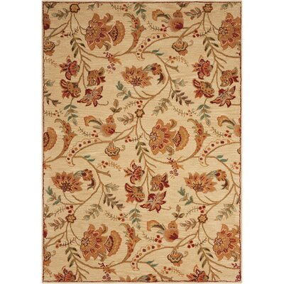 Broomhedge Cream Area Rug Rug Size: Rectangle 76 x 96