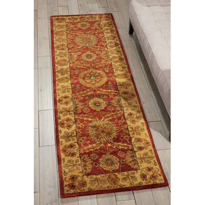 Bassham Hand-Tufted Red Area Rug