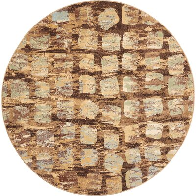 Duke Brown/Blue Area Rug Rug Size: Rectangle 710 x 710