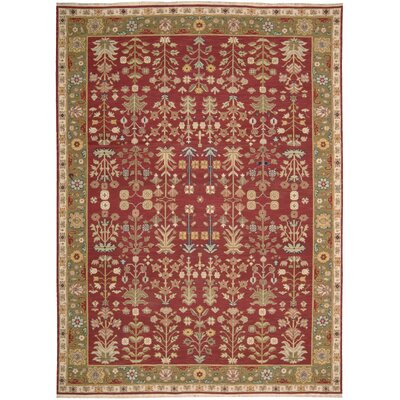 Cantrell Hand-Woven Burgundy Area Rug Rug Size: 710 X 910